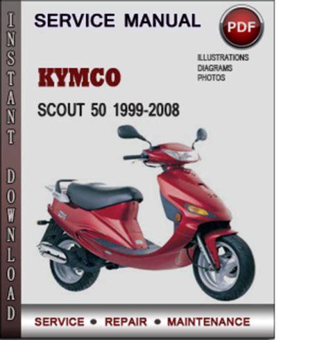 Kymco Scout 50 1999 2008 Factory Service Repair Manual