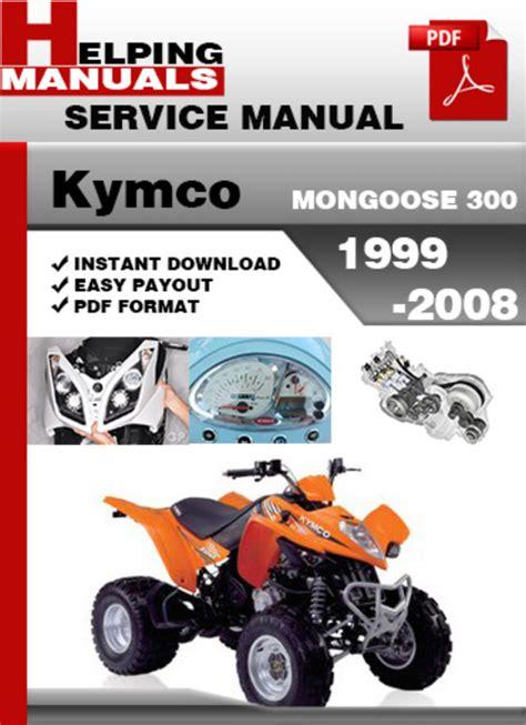 Kymco Service Manual Mongoose 300