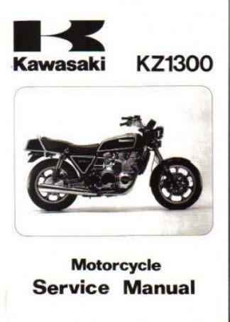 Kz1300 Service Repair Workshop Manual 1979 1983