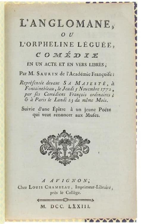 L Orpheline Leguee Comedie En Trois Actes En Vers Libres Arts