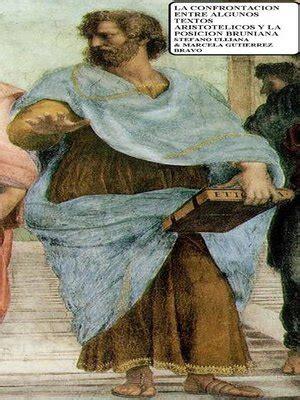 La Confrontacion Entre Algunos Textos Aristotelicos Y La Posicion Bruniana