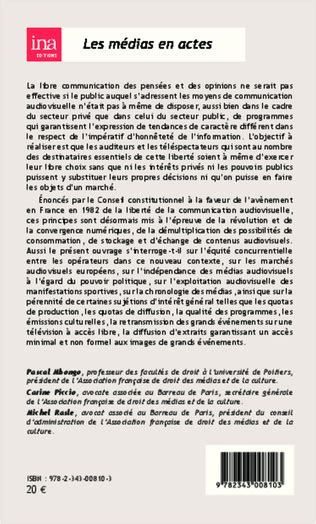 La Liberte De La Communication Audiovisuelle Au Debut Du 21 E Siecle