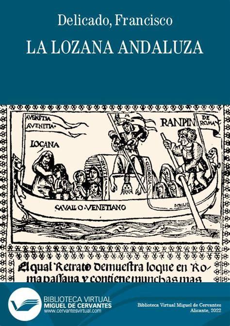 La Lozana Andaluza Biblioteca Virtual Miguel De Cervantes