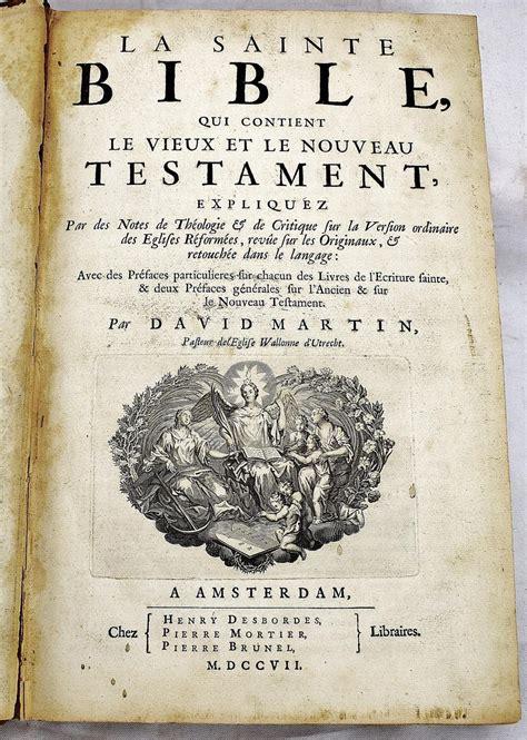La Sainte Bible Qui Contient Le Vieux Et Le Nouveau Testament Classic Reprint