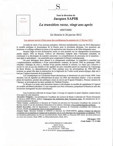 La Transition Russe Vingt Ans Apres