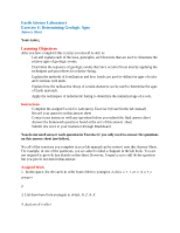 Lab Manual Exercise 6 Determining Geologic Ages