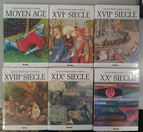 Lagarde Et Michard 6 Livres Les Grands Auteurs Francais Anthologie Et Histoire Litteraire Moyen Age Xvie