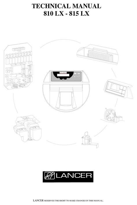 Lancer 815 Manual