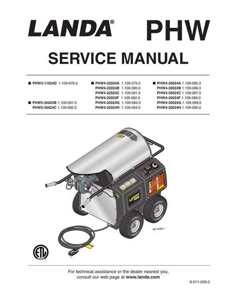 Landa Power Washer Manual