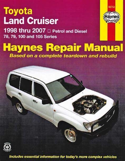 Landcruiser 1998 Workshop Manual