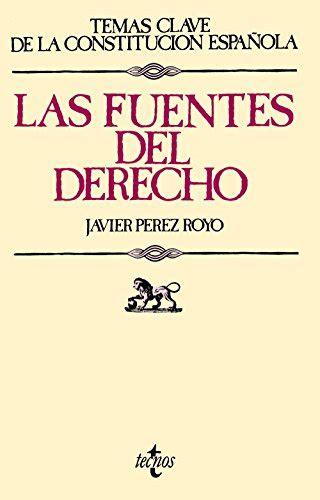 Las Fuentes Del Derecho Derecho Temas Clave De La Constitucion Espanola
