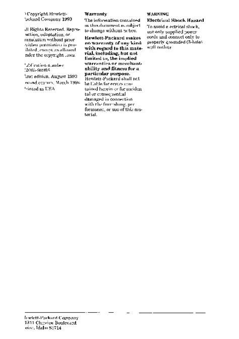 Laserjet 4p Service Manual