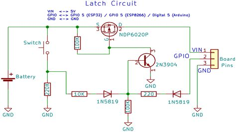 Latch Switch Circuit Diagram