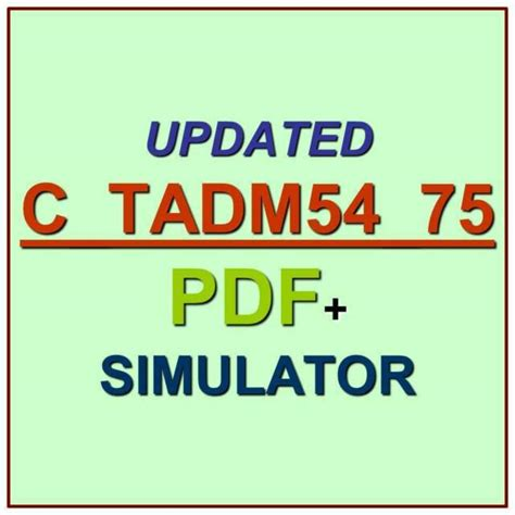 Latest C-TADM54-75 Test Simulator