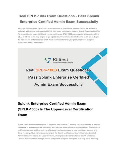 Latest SPLK-1003 Test Voucher