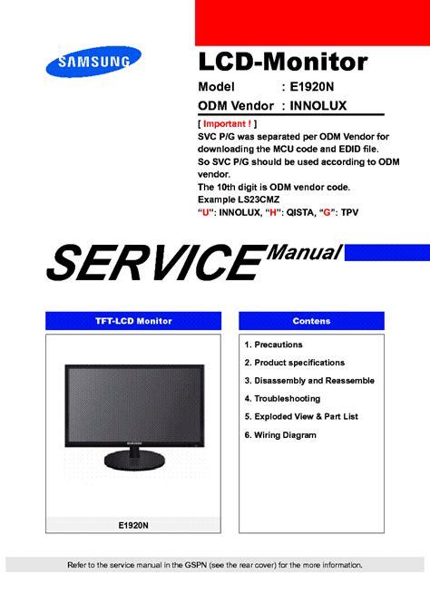 Lcd Monitors Service Manual