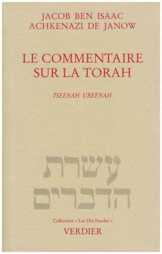 Le Commentaire Sur La Torah Tseenah Ureenah