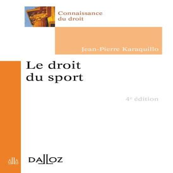 Le Droit Du Sport 4e Ed