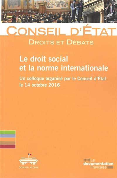 Le Droit Social Et La Norme Internationale