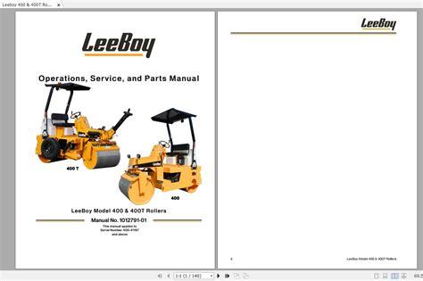Leeboy 400 Roller Manual
