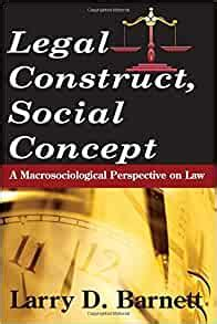 Legal Construct Social Concept A Macrosociological Perspective On Law Social Institutions And Social Change Series English Edition