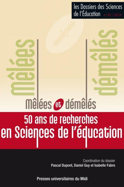 Les Dossiers Des Sciences De Leducation N 29