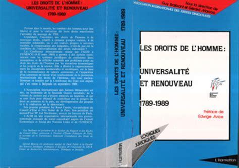 Les Droits De L Homme Universalite Et Renouveau