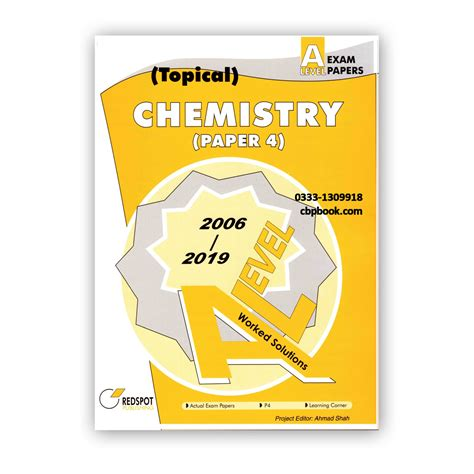 Level Chemistry Redspot Past Papers