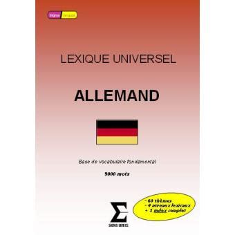 Lexique Universel Allemand