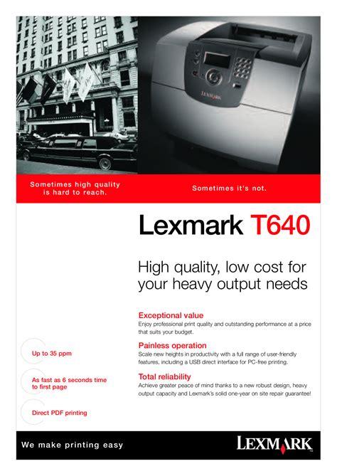 Lexmark T640 Manual