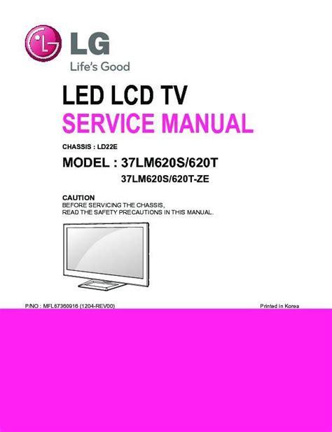 Lg 37lm620s Service Manual And Repair Guide