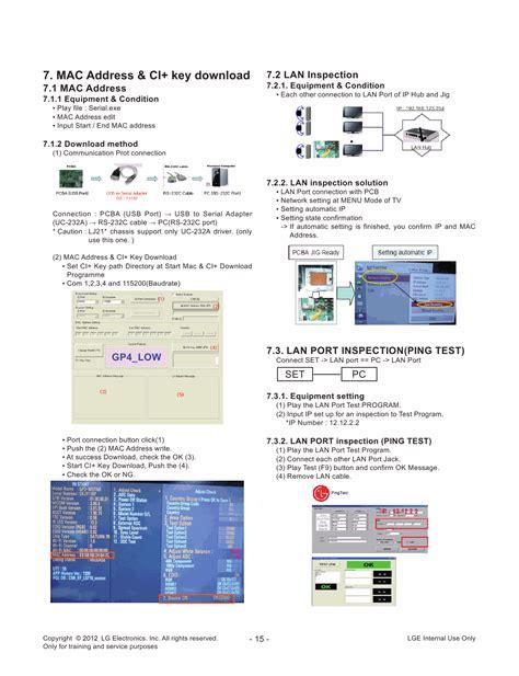 Lg 42cs460 Ta Service Manual And Repair Guide