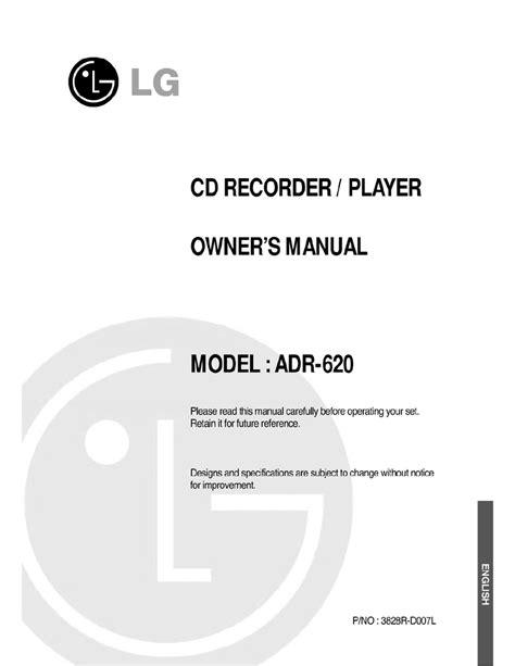 Lg Cd Player User Manual