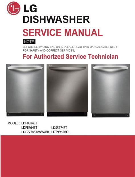 Lg Dishwasher Instruction Manual