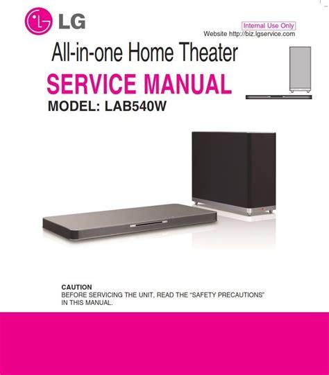 Lg Lab540w Soundplate Service Manual And Repair Guide