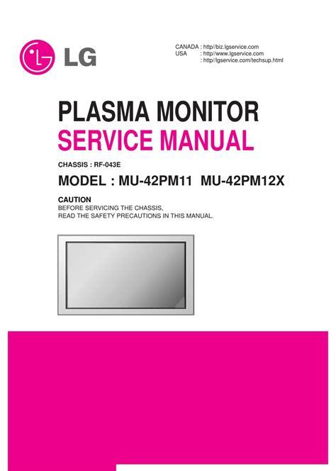 Lg Mu 42pm11 Service Manual