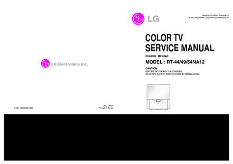 Lg Rt 44 49 54na11t Tv Service Manual