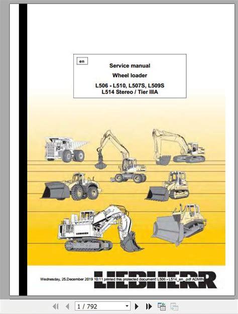 Liebherr Stereo Tier Iiia L506 Service And Repair Manual