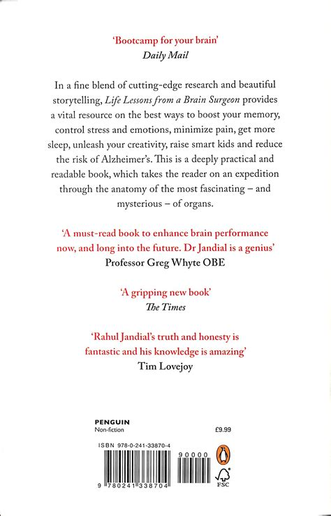 Life Lessons From A Brain Surgeon The New Science And Stories Of The Brain