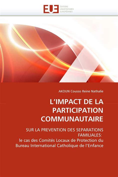 Limpact De La Participation Communautaire