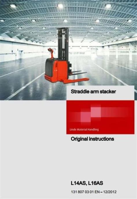Linde Pallet Truck Type 131 L14as L16as Operating Instructions User Manual