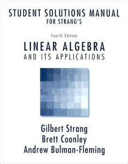 Linear Algebra And Its Applications 4th Edition Solutions Manual Pdf Strang