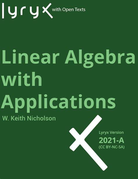 Linear Algebra With Applications Solution Manual Nicholson