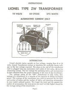 Lionel Zw Transformer Service Manual