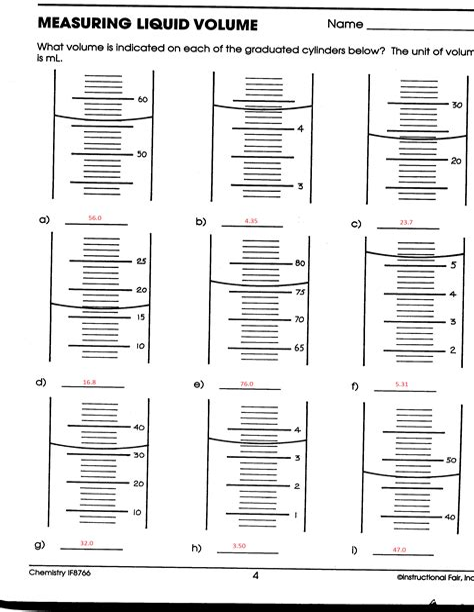 Liquids Exercises Answers