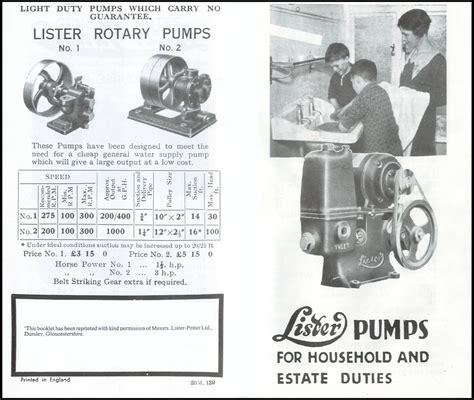 Lister Pump Manual