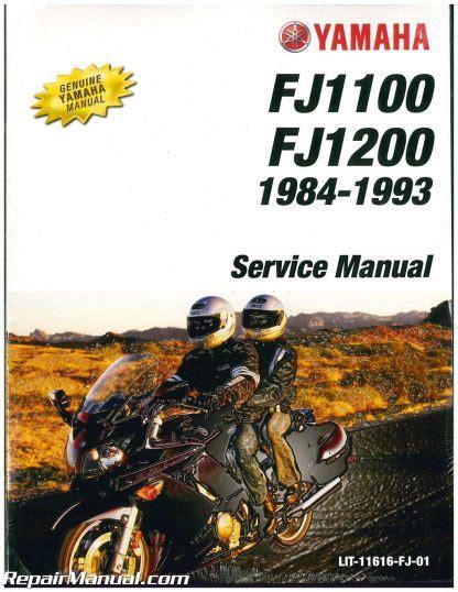Lit 11616 Fj 01 1984 1993 Yamaha Fj1100 Fj1200 Motorcycle Service Manual