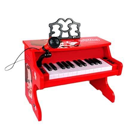 Liufs El Teclado Piano Juguete Ninos Principiante Teclado Multifuncion Hogar Chica Rojo Dibujos Animados Color Red