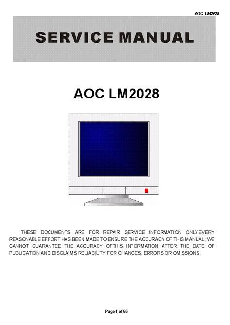 Lm 2166e2l Service Manual