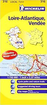 Loire-Atlantique, Vendee Michelin Local Map 316 (Michelin Local Maps) by Michelin (2016-04-30)